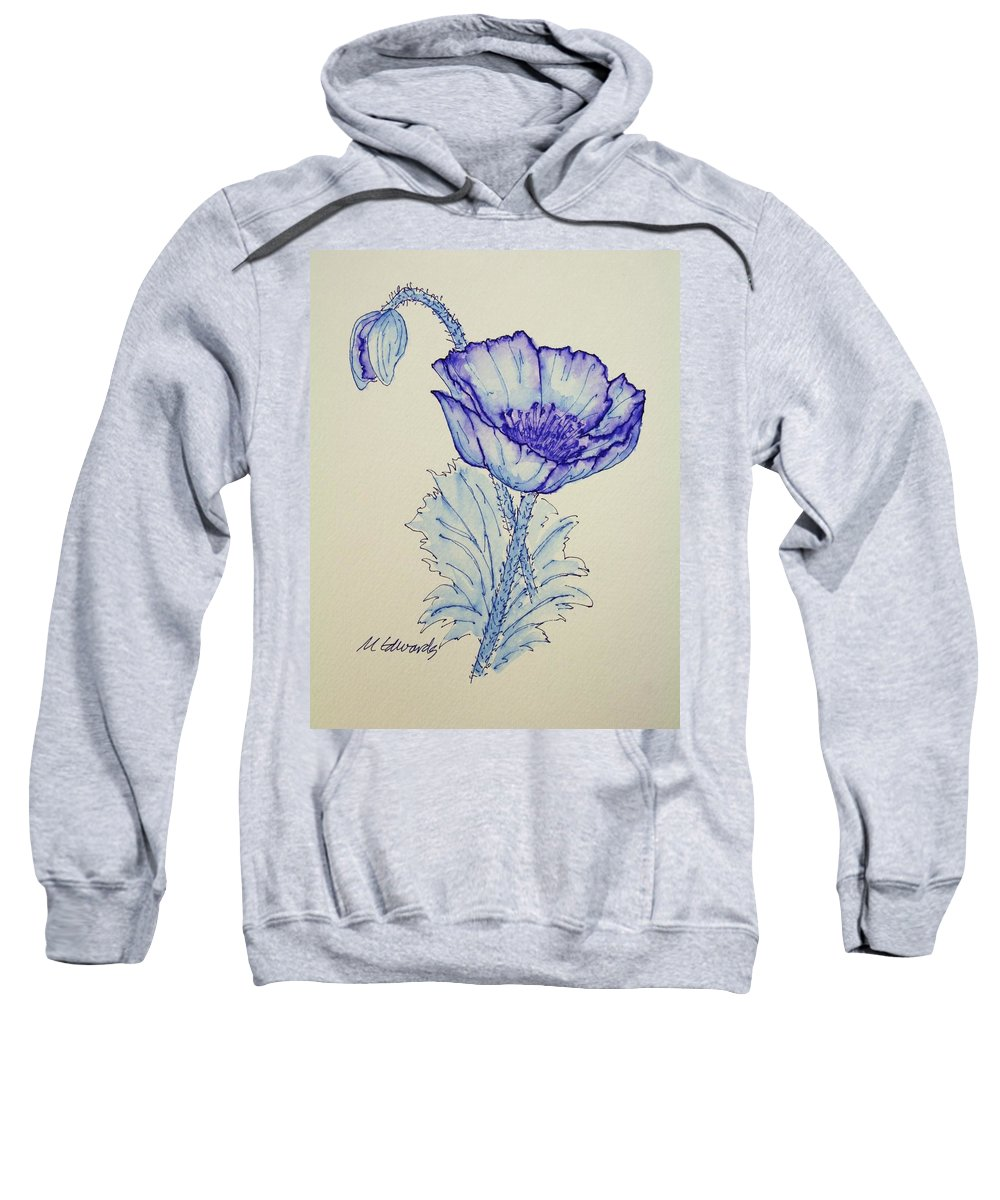 Poppy Sweatshirt featuring the drawing Oh Poppy by Marna Edwards Flavell