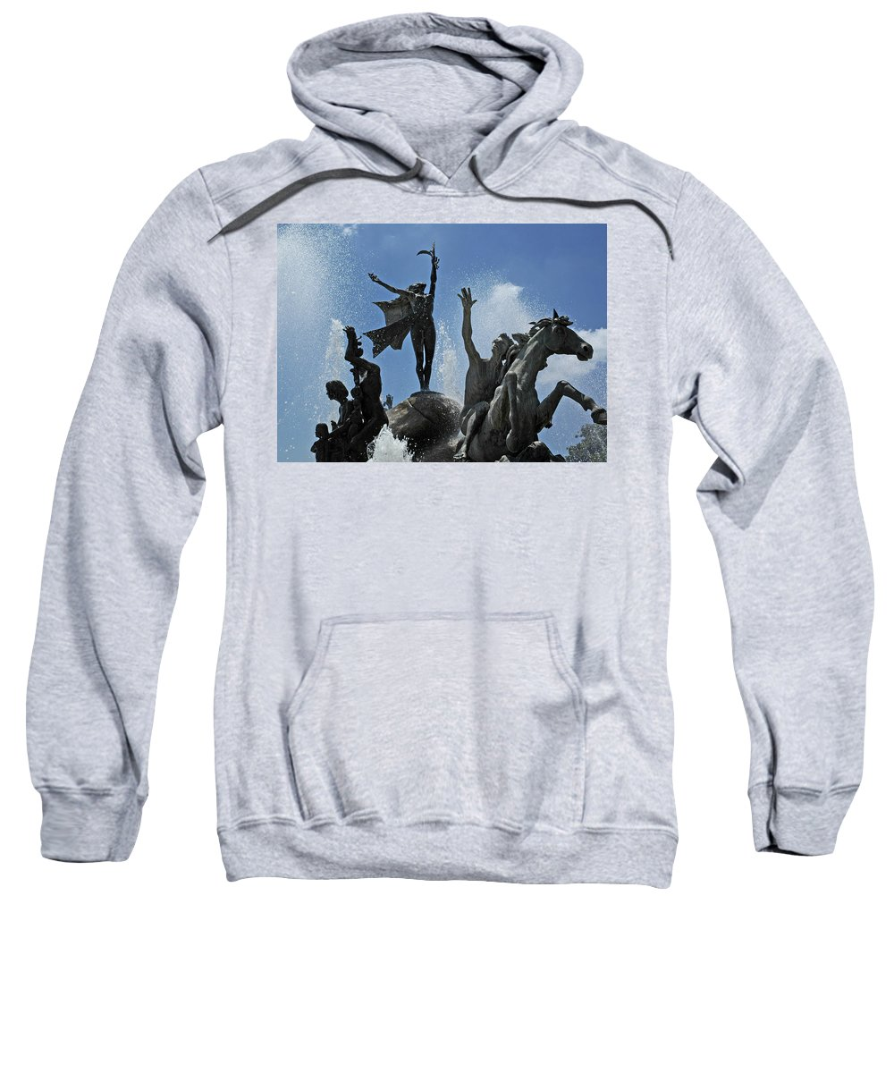 Statue Sweatshirt featuring the photograph Old San Juan Puerto Rico by Tito Santiago