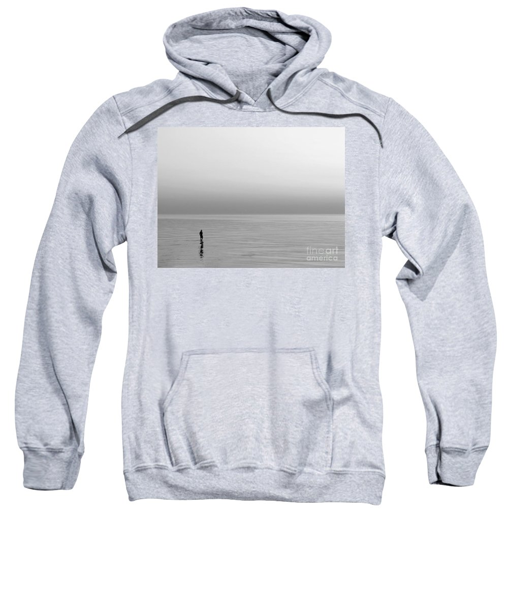 Lake Sweatshirt featuring the photograph One Man by Dana DiPasquale