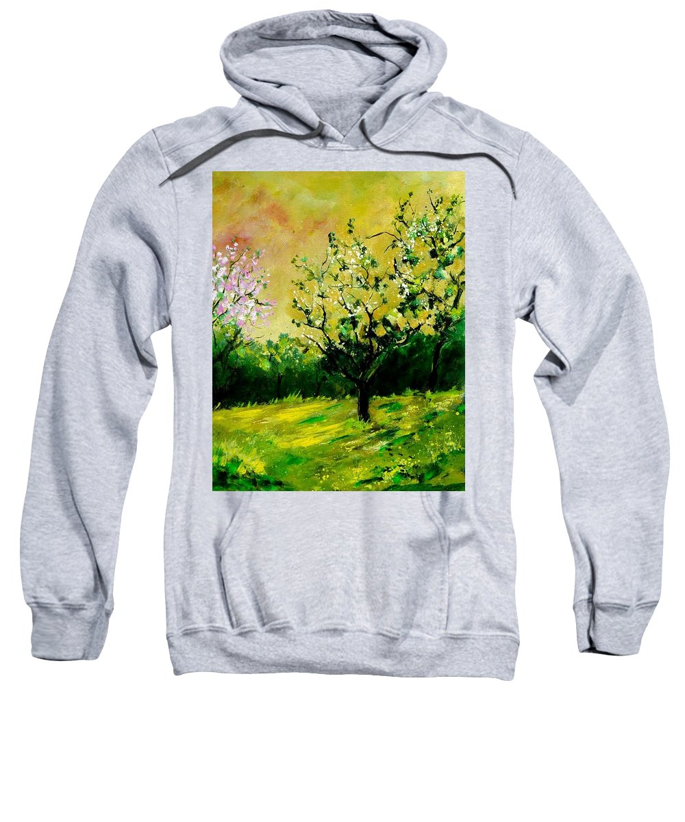 Landscape Sweatshirt featuring the painting Orchard by Pol Ledent