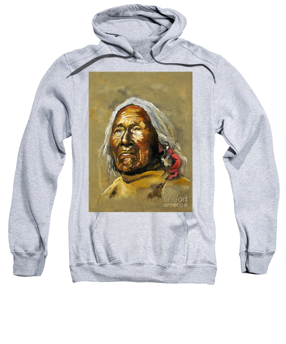 Southwest Art Sweatshirt featuring the painting Painted Sands Of Time by J W Baker