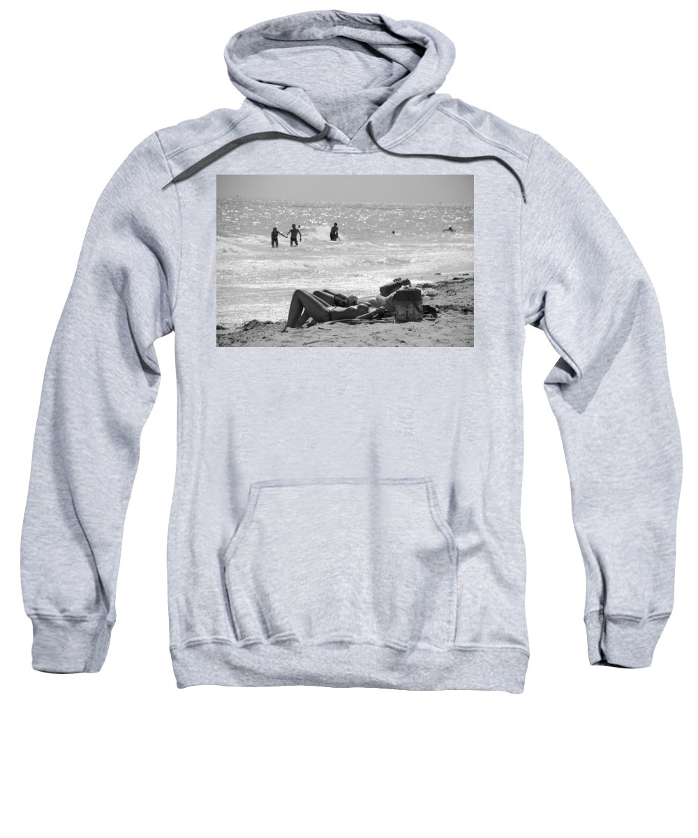 Black And White Sweatshirt featuring the photograph Paradise Beach by Rob Hans