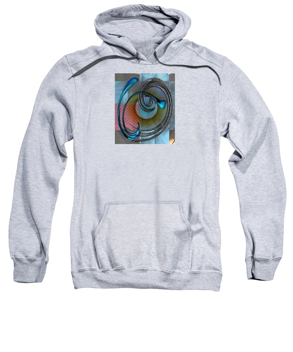 Abstract Sweatshirt featuring the digital art Patches by Iris Gelbart