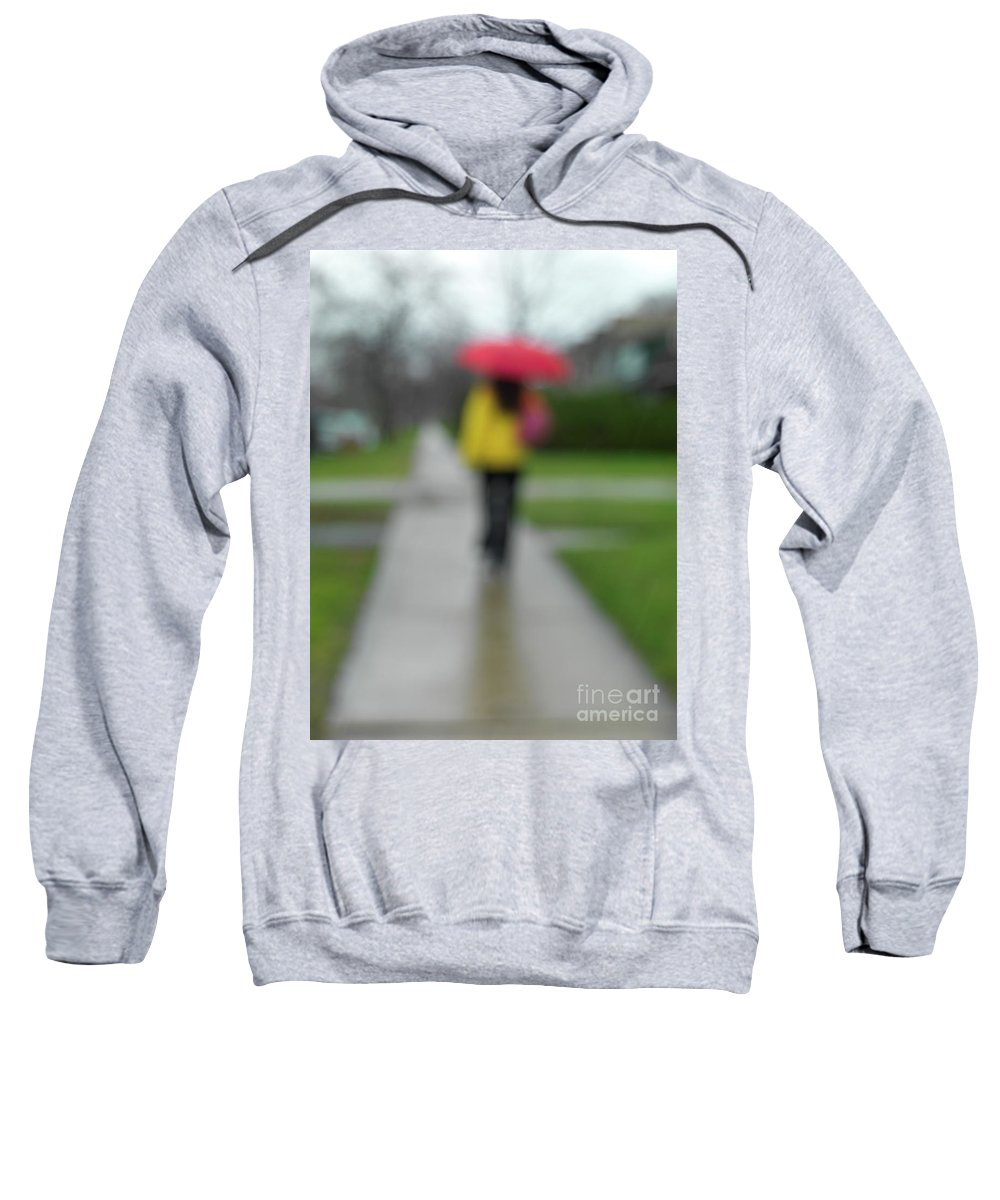 Rainy Day Sweatshirt featuring the photograph People In The Rain by Oleksiy Maksymenko