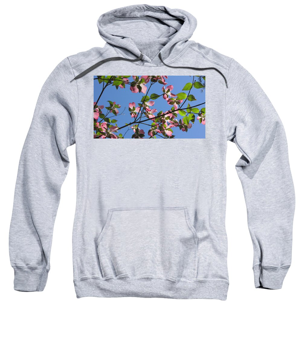 Tree Sweatshirt featuring the photograph Pink Dogwood by Sarah Houser