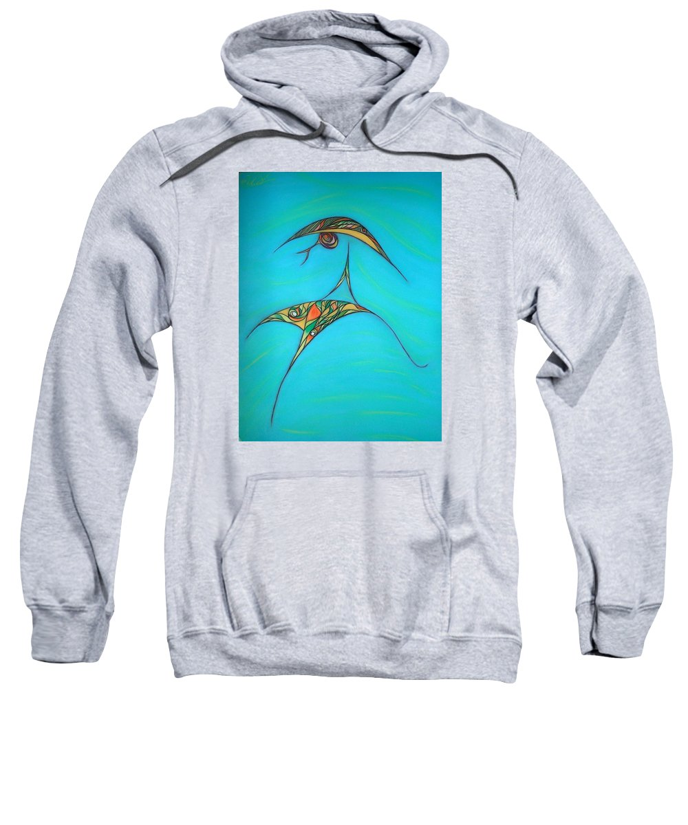 Abstract Sweatshirt featuring the pastel Pneuma by Robert Nickologianis