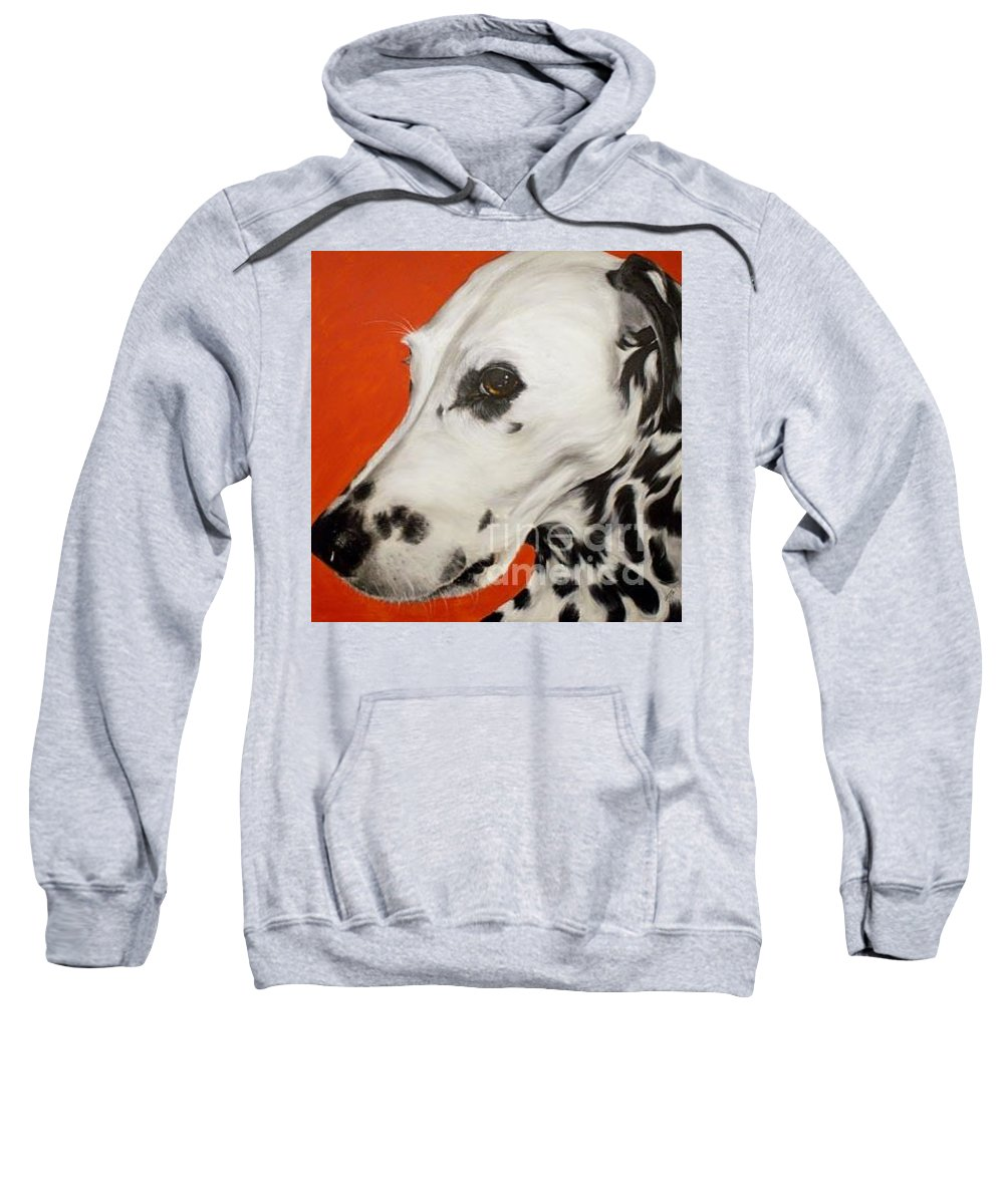 Acrylic Sweatshirt featuring the painting Polka by Keran Sunaski Gilmore