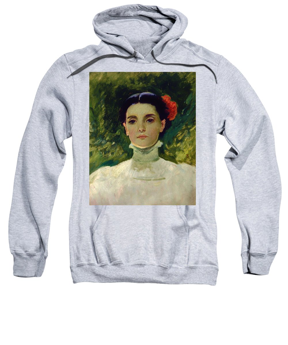 Painting Sweatshirt featuring the painting Portrait Of Maggie Wilson by Mountain Dreams