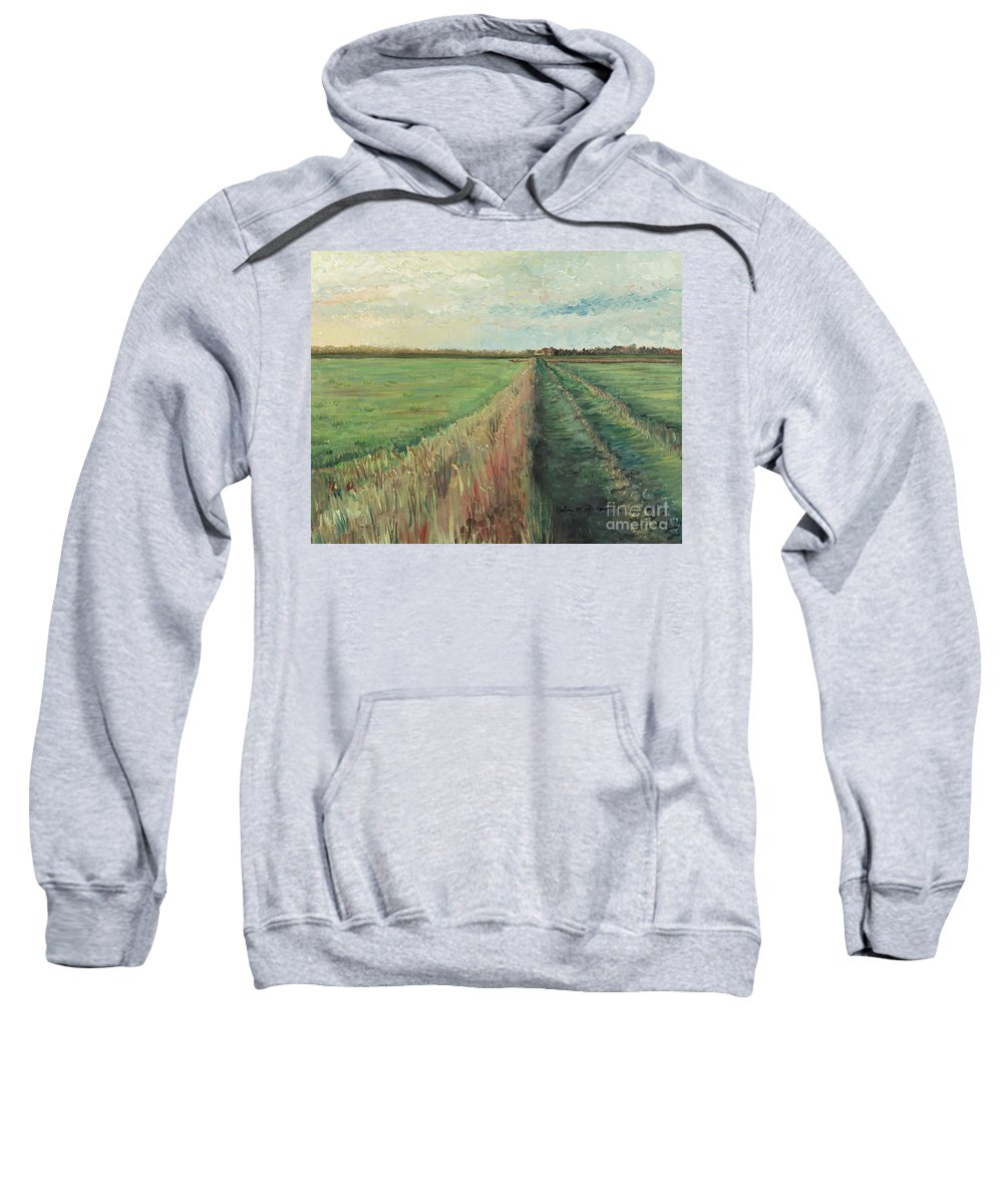 Provence Sweatshirt featuring the painting Provence Villa by Nadine Rippelmeyer