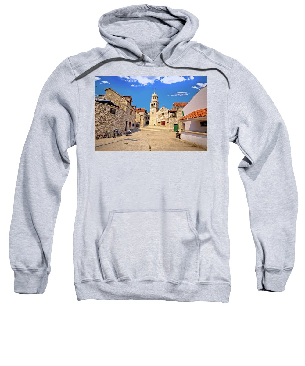 Prvic Sweatshirt featuring the photograph Prvic Sepurine Stone Architecture View by Brch Photography