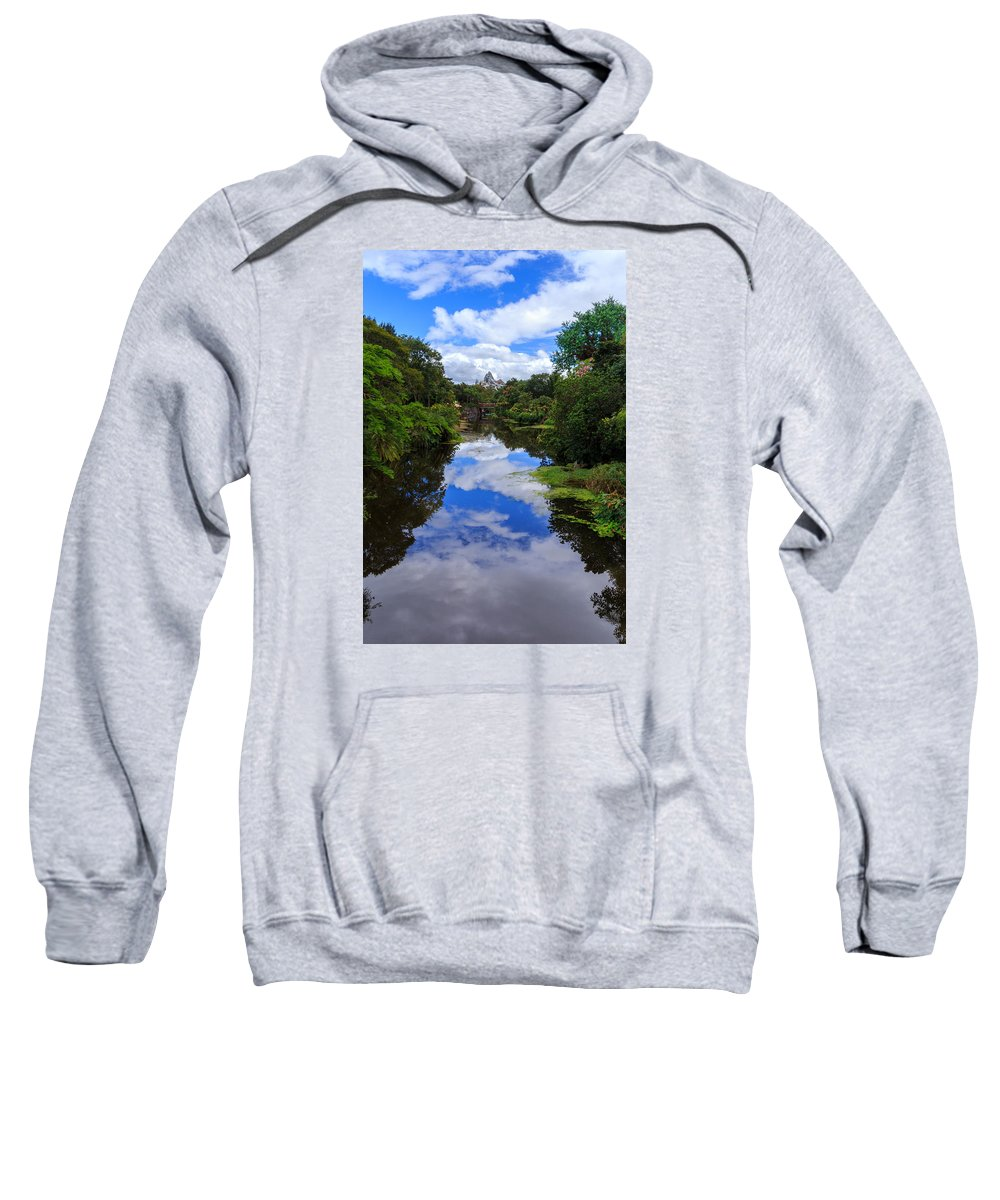 Reflection Sweatshirt featuring the photograph Reflected View 2 by Charles A LaMatto