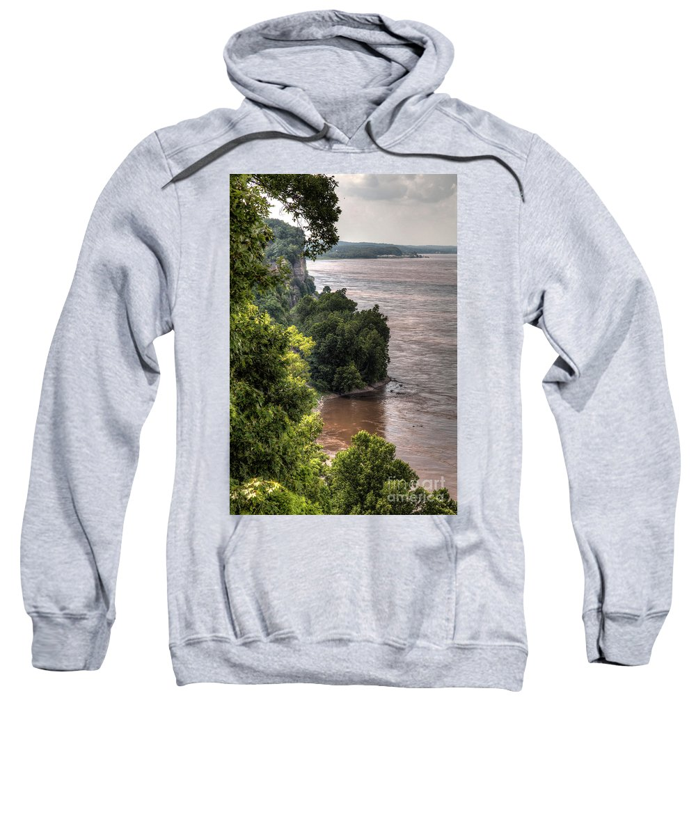2014 Sweatshirt featuring the photograph River Bluff View by Larry Braun