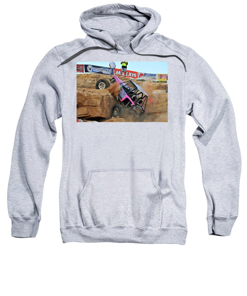 Rock Crawling Sweatshirt featuring the digital art Rock Crawling by Bert Mailer