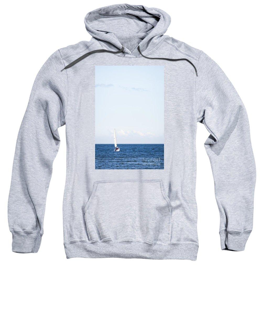 Baltic Sea Sweatshirt featuring the photograph Sailing by Lasse Ansaharju