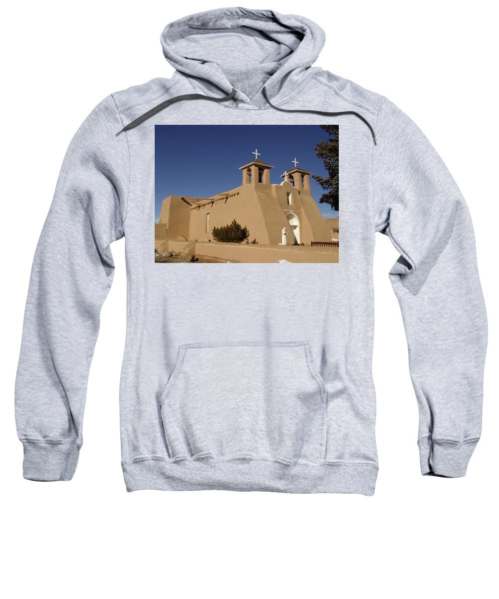 Church Sweatshirt featuring the photograph San Francisco De Asis Mission Church by Carol Milisen