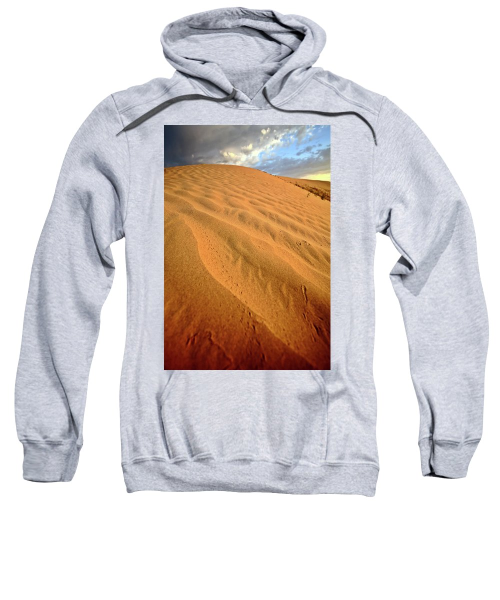 Sand Dune Sweatshirt featuring the digital art Sand Dune At Great Sand Hills In Scenic Saskatchewan by Mark Duffy
