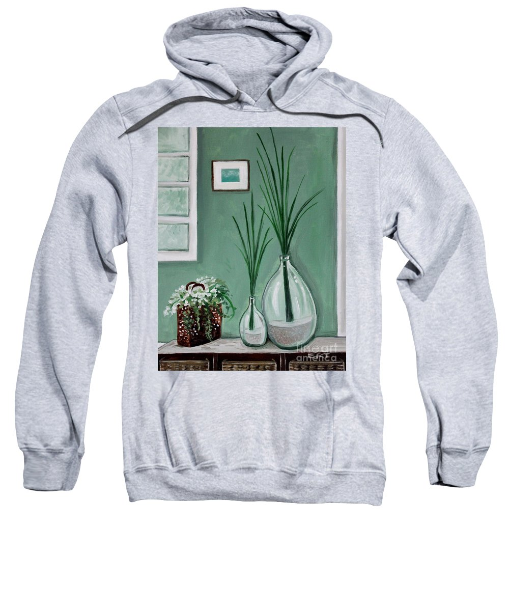 Home Decor Art Sweatshirt featuring the painting Sea Grass by Elizabeth Robinette Tyndall