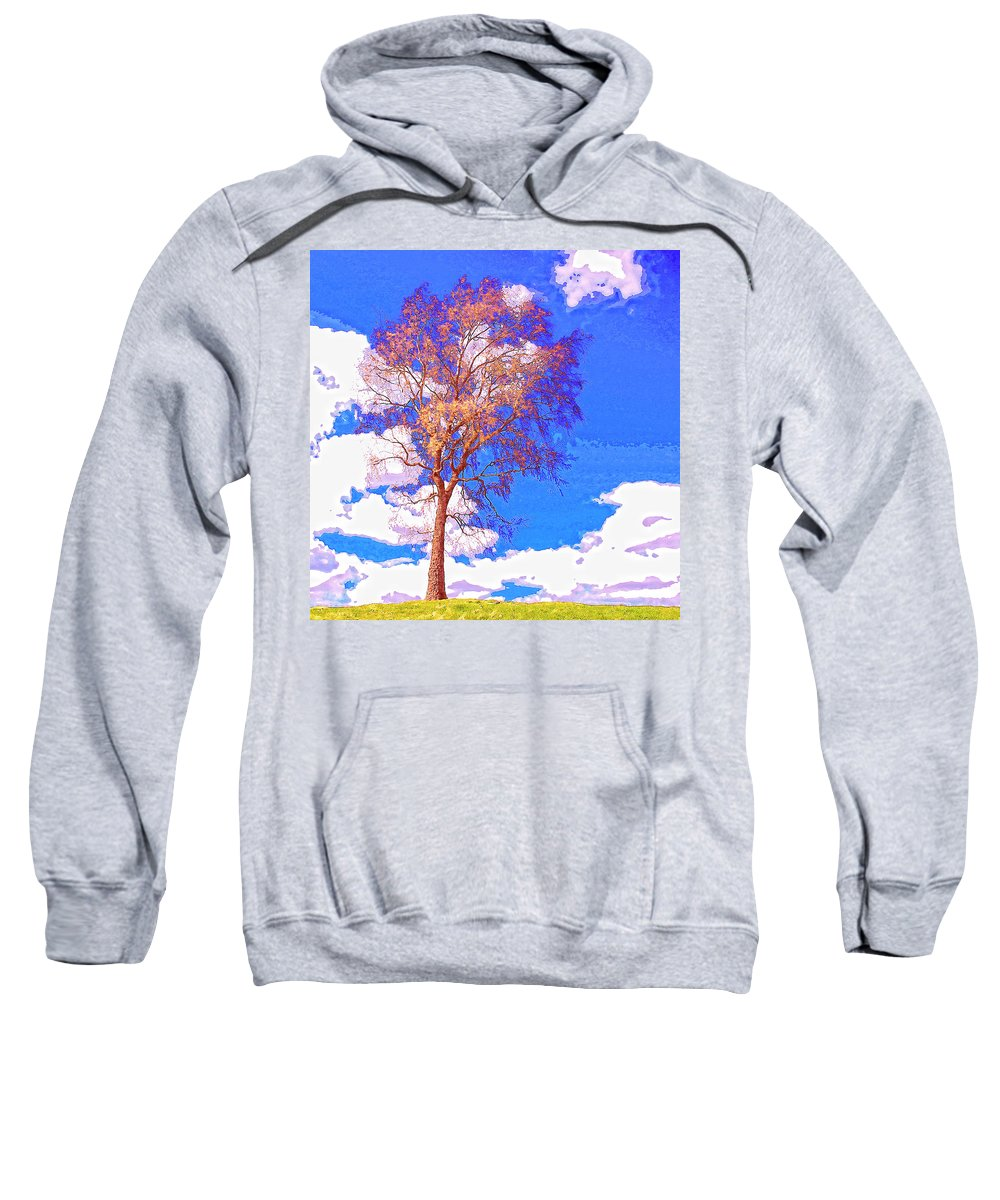 Sentinel Sweatshirt featuring the mixed media Sentinel by Dominic Piperata