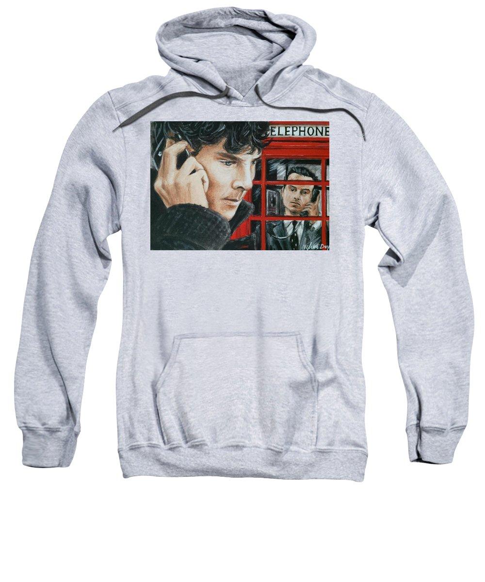 Sherlock Sweatshirt featuring the painting Sherlock by YeLena Day