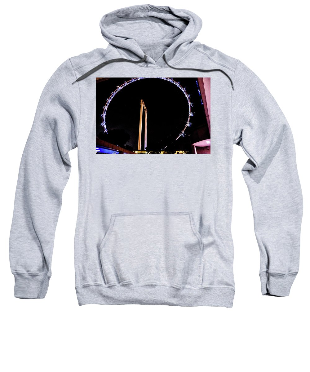 Flyer Sweatshirt featuring the photograph Singapore Flyer View by David Rolt