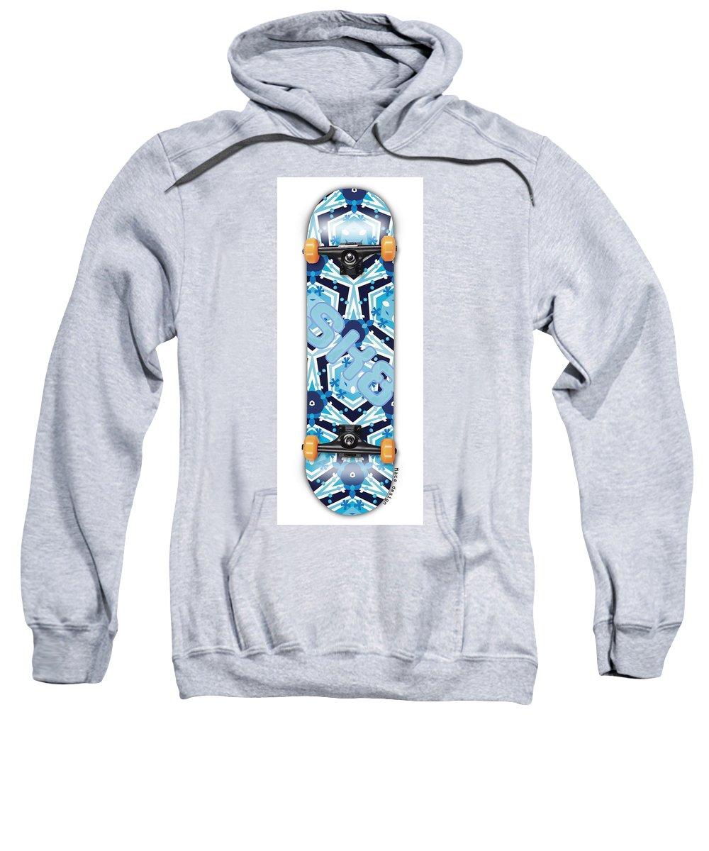 Skateboard Sweatshirt featuring the painting SK8 by Maciej Mackiewicz