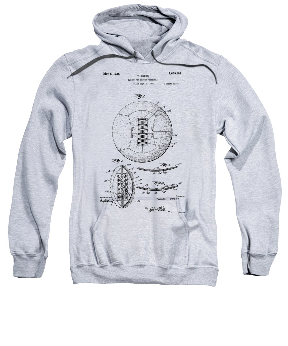 Soccer Sweatshirt featuring the photograph Soccer Ball Patent 1928 by Chris Smith