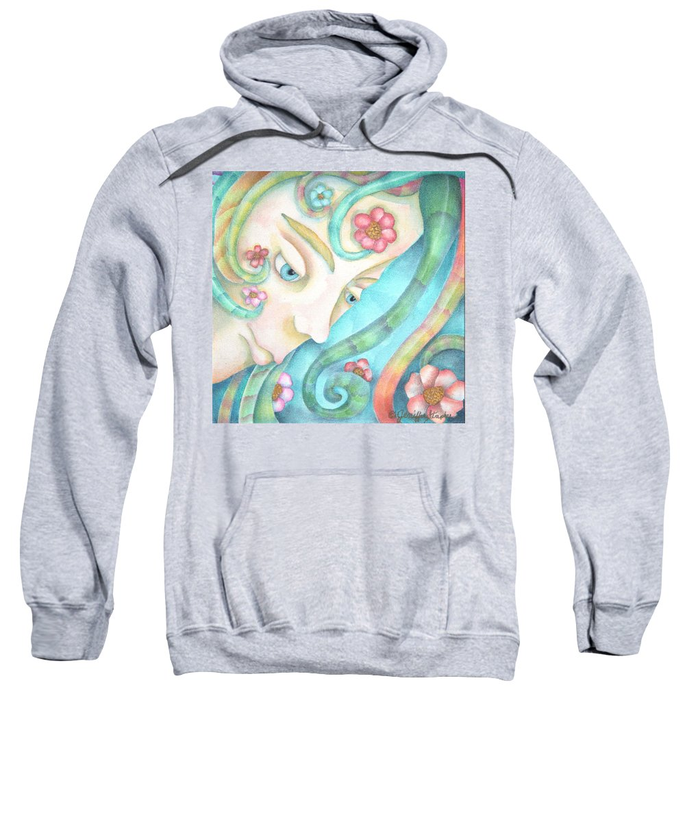 Sprite Sweatshirt featuring the painting Sprite Of Kind Thoughts by Jeniffer Stapher-Thomas