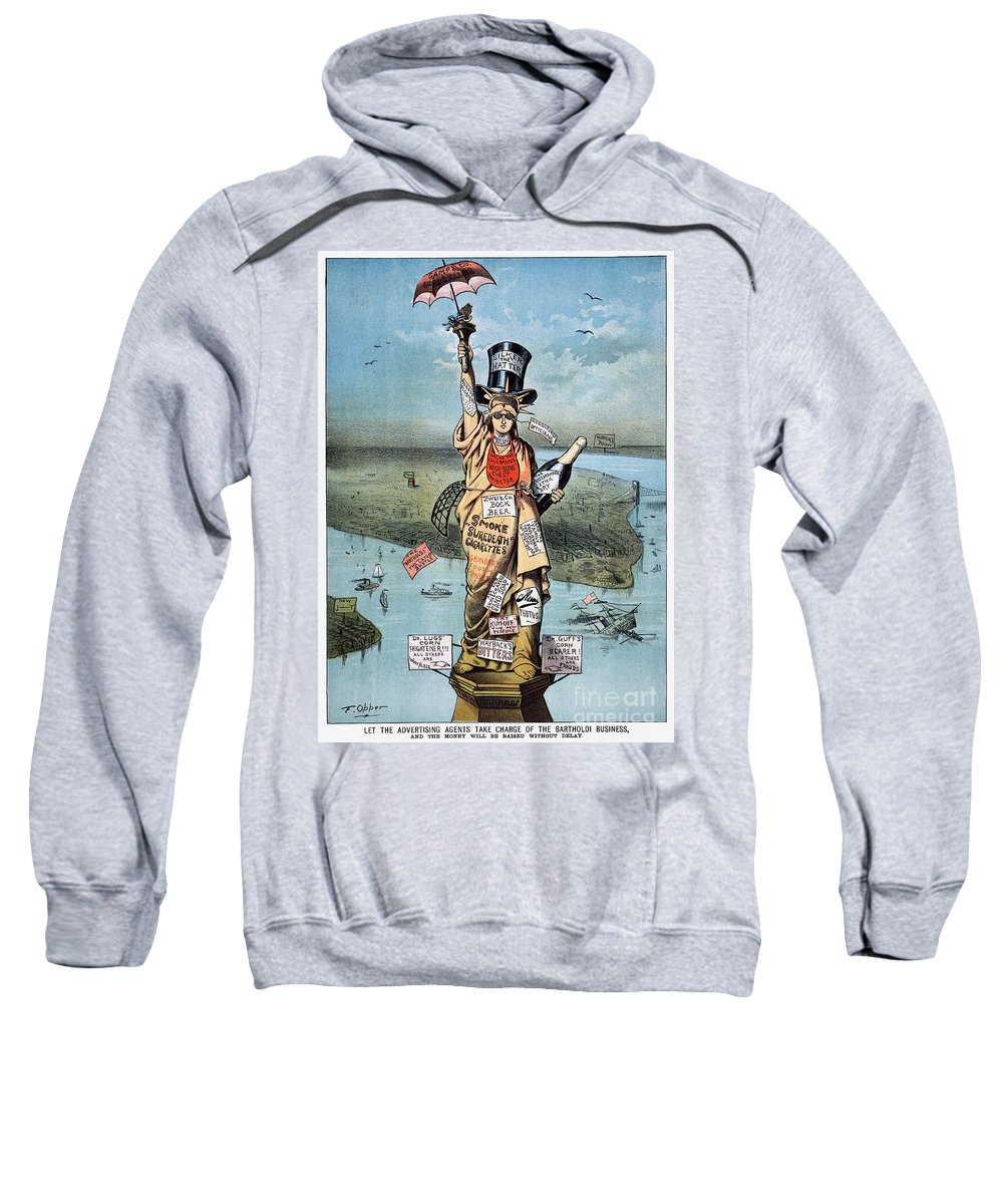 19th Century Sweatshirt featuring the photograph Statue Of Liberty Cartoon by Granger