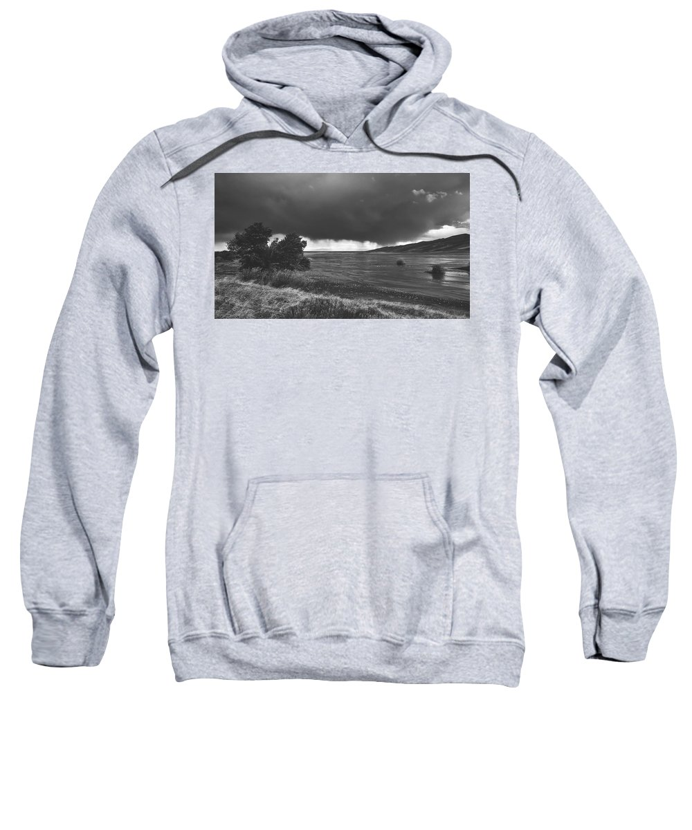 Mud Flats Sweatshirt featuring the photograph Storm Brewing Over The Mud Flats by Library Of Congress