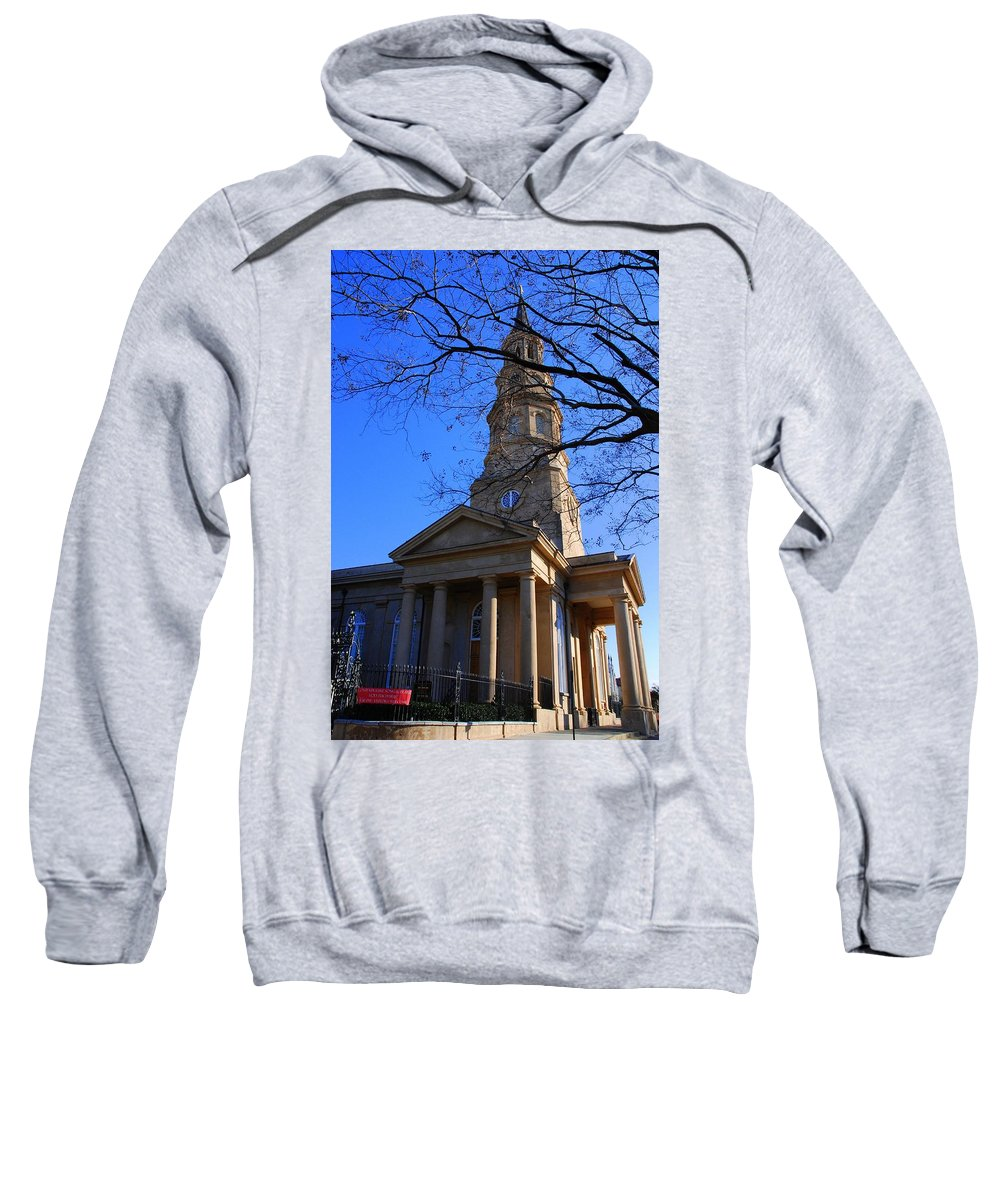 Photography Sweatshirt featuring the photograph St.philips Episcopal Church In Charleston Sc by Susanne Van Hulst