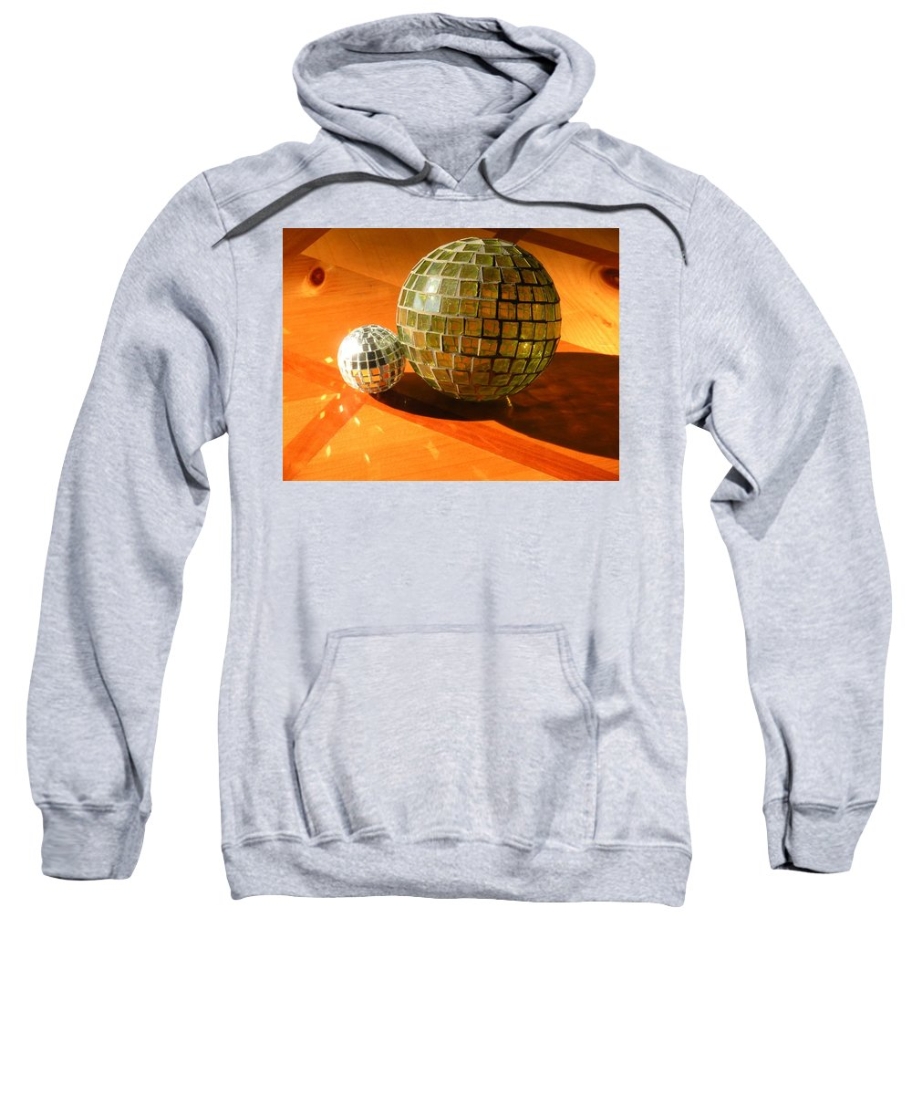 Sweatshirt featuring the photograph Sunlit Spheres by Maria Bonnier-Perez