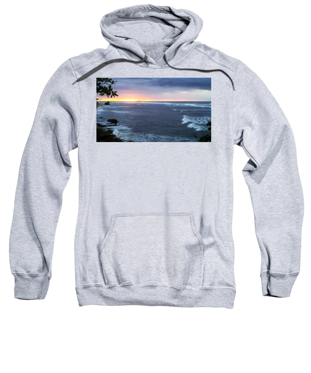Beach Sweatshirt featuring the photograph Sunset In Aguadillia Puerto Rico by Sheryl Chapman Photography