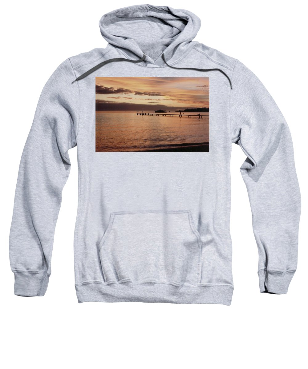 Sunset Sweatshirt featuring the photograph Sunset In Paradise by Mary-Lee Sanders