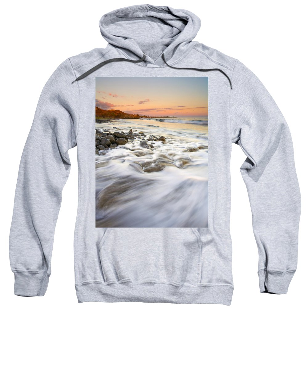 Beach Sweatshirt featuring the photograph Sunset Tides by Mike Dawson