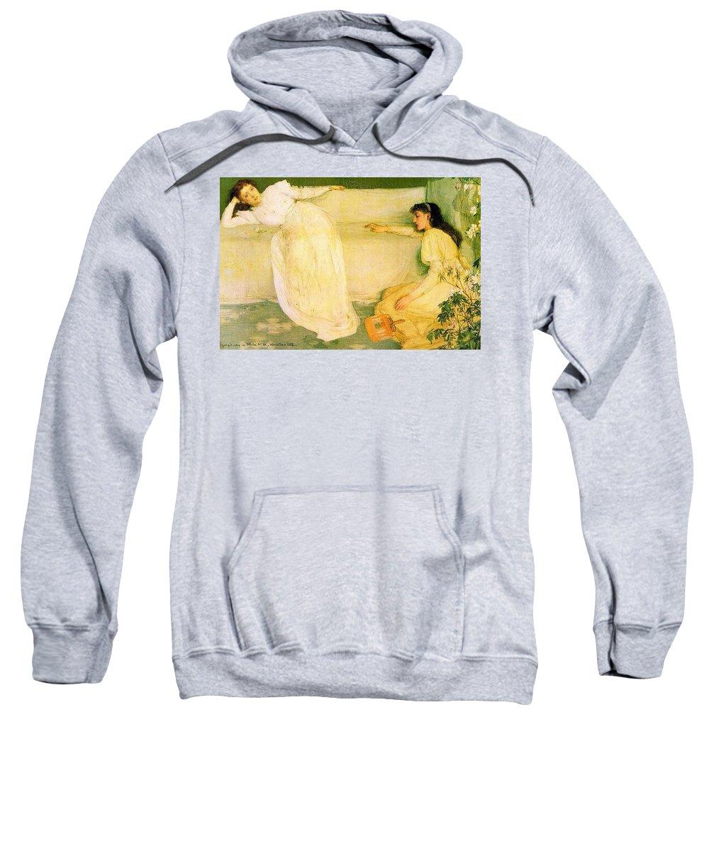 Bride Sweatshirt featuring the digital art Symphony In White No 3 James Abbott Mcneill Whistler by Eloisa Mannion