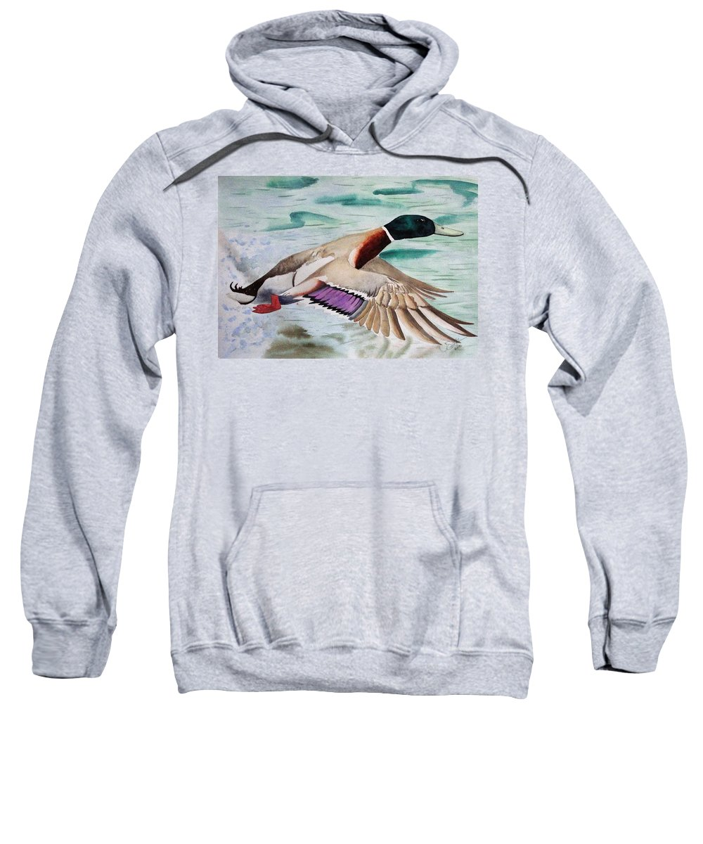 Drake Sweatshirt featuring the painting Takin Off by Jimmy Smith