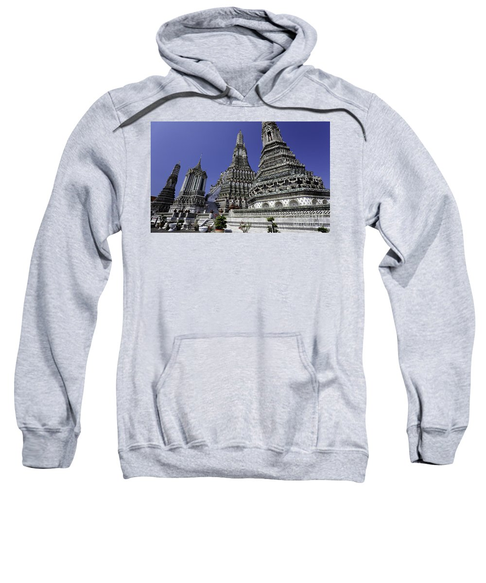 Architecture Sweatshirt featuring the photograph Temple Detail In Bangkok Thialand by Anthony Totah
