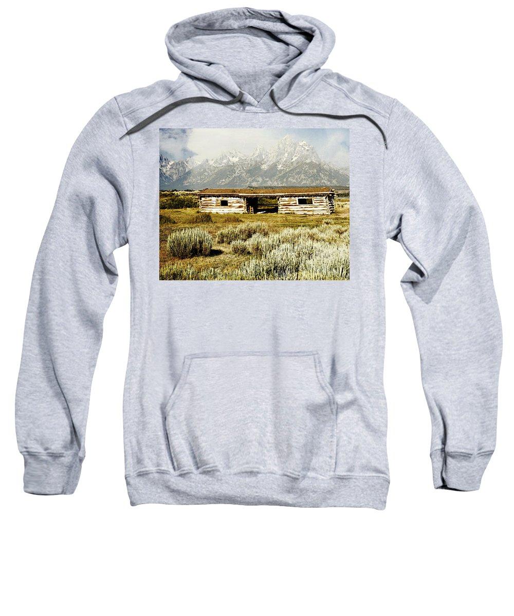 Grant Teton Natonal Park Sweatshirt featuring the photograph Teton Ranch by Marty Koch