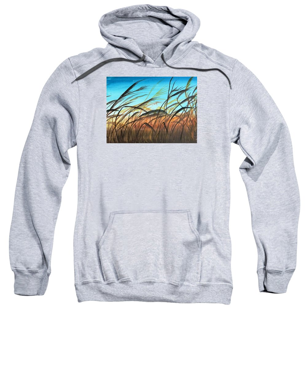 Evening Sweatshirt featuring the painting The Evening Light by Sigita Smetonaite