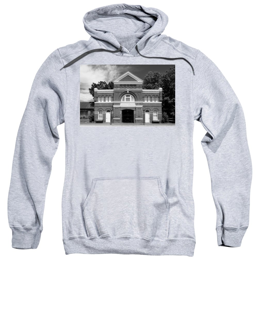 Harmony Sweatshirt featuring the photograph The Historic New Harmony Opera House by Library Of Congress