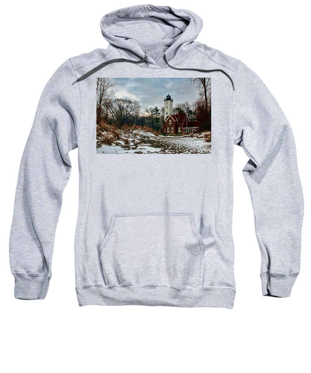 Lighthouse Sweatshirt featuring the photograph The Lighthouse by Gaby Swanson