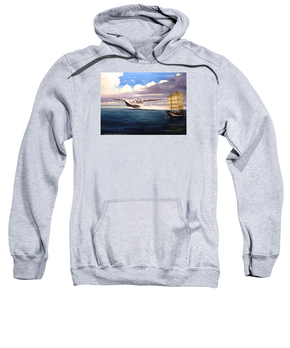 B-314 Sweatshirt featuring the painting The Long Way Home by Marc Stewart