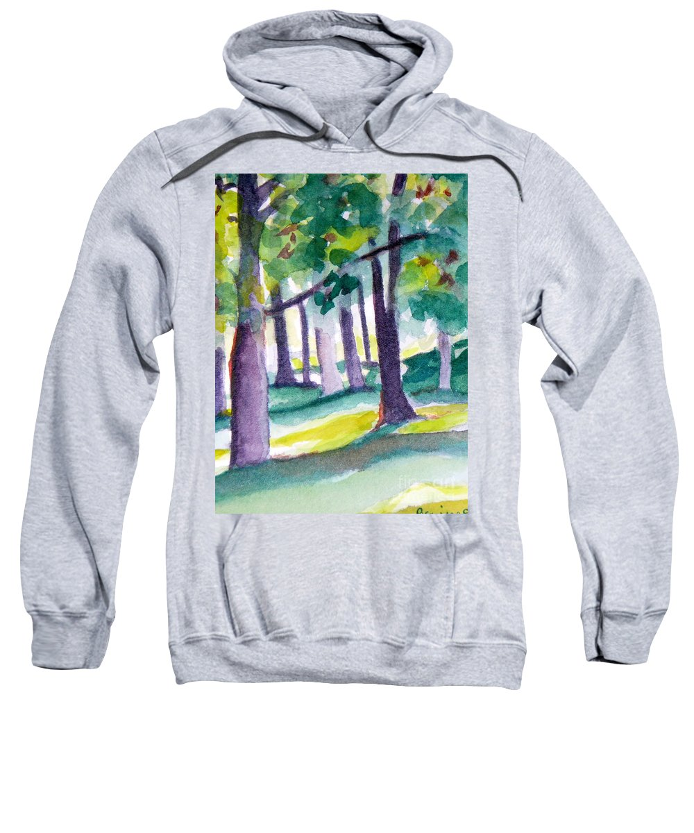 Nature Sweatshirt featuring the painting The Perfect Day by Jan Bennicoff