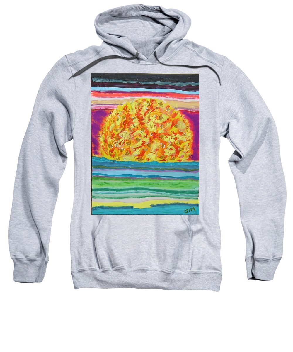 Hot Sweatshirt featuring the painting The Sun Drinks The Ocean And Eats The Sky by James Campbell