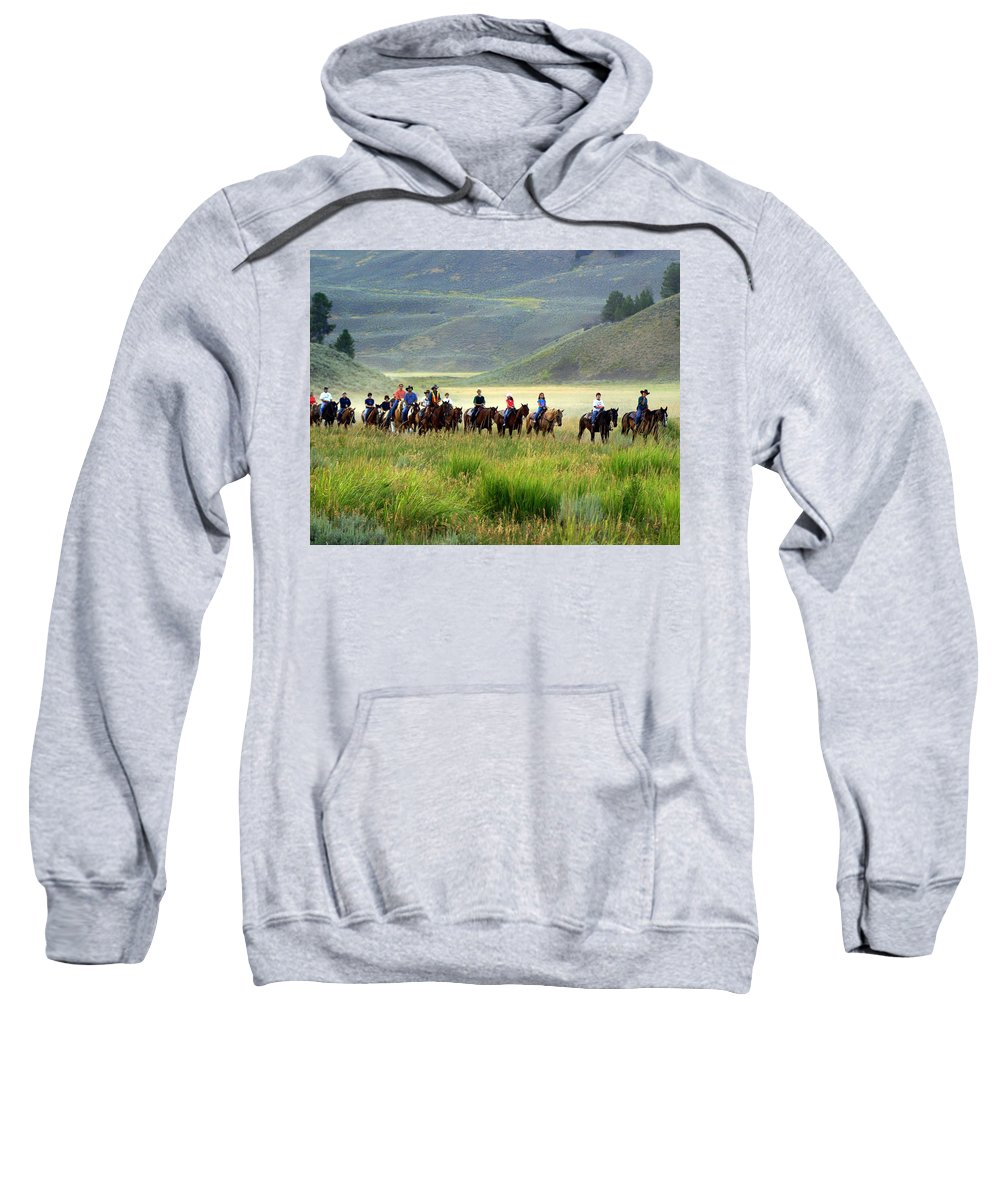 Trail Ride Sweatshirt featuring the photograph Trail Ride by Marty Koch