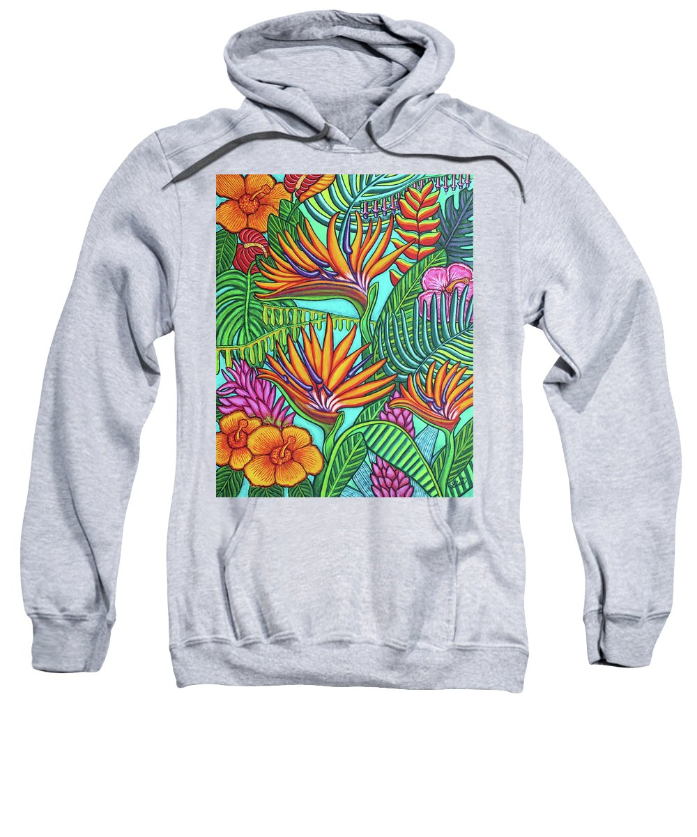 Tropical Sweatshirt featuring the painting Tropical Gems by Lisa Lorenz