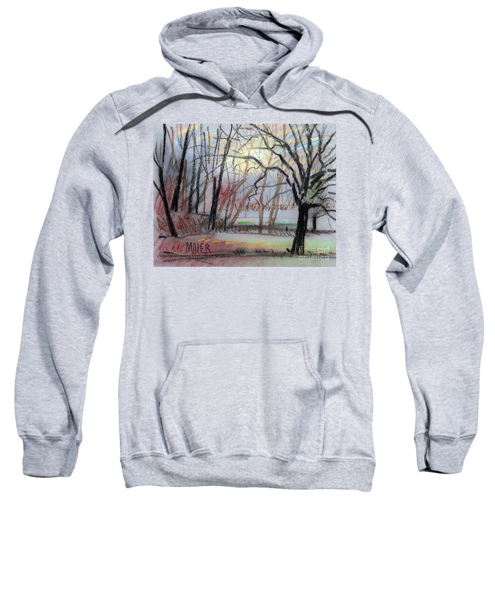 Landscape Sweatshirt featuring the drawing Turner South by Donald Maier