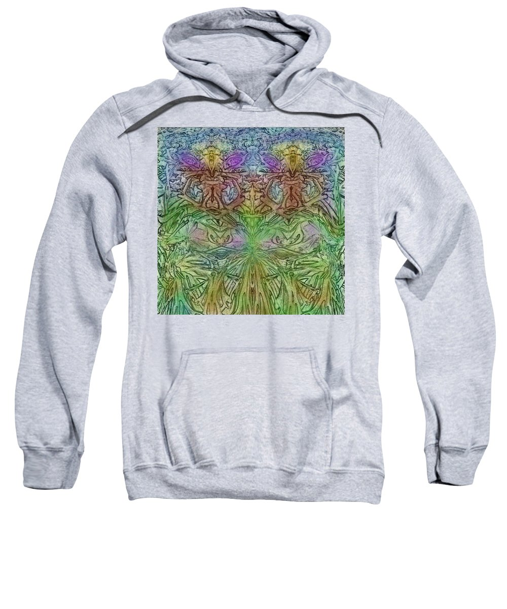 Fairy Sweatshirt featuring the digital art Twin Fairies by Madelene Varalli