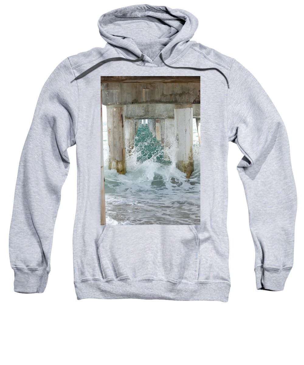 Ocean Sweatshirt featuring the photograph Under The Boardwalk by Rob Hans