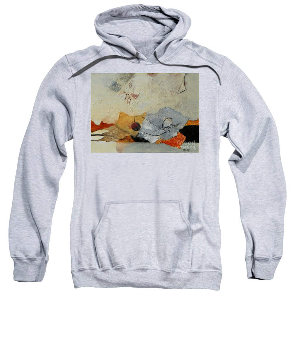 Abstract Expressionism Sweatshirt featuring the painting Unwrapped by Donna Frost